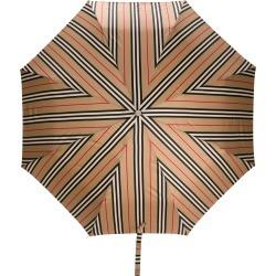 Burberry Icon Stripe Folding Umbrella - NEUTRALS