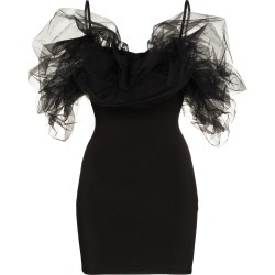 Alexandre Vauthier tulle detail mini dress - Black found on MODAPINS from FARFETCH.COM Australia for USD $1591.57