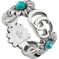Gucci Double G flower ring - Metallic found on Bargain Bro India from FarFetch.com - US for $390.00