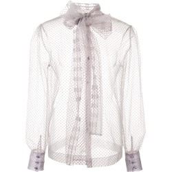 Alexa Chung sheer tulle blouse - Pink found on MODAPINS from FARFETCH.COM Australia for USD $526.90