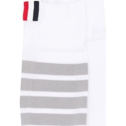 Thom Browne Mid Calf Socks In Lightweight Cotton With 4 Bar Stripe - found on Bargain Bro UK from FarFetch.com- UK