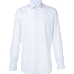 Barba textured style shirt - Blue found on MODAPINS from FARFETCH.COM Australia for USD $152.11