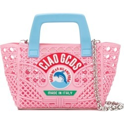 Gcds Kids TEEN logo basket bag - Pink found on MODAPINS from FarFetch.com- UK for USD $262.50