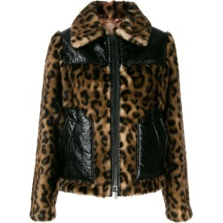 Nº21 leopard print paneled jacket - Brown found on MODAPINS from FARFETCH.COM Australia for USD $1403.04