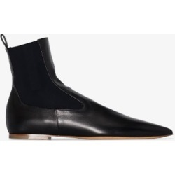 Jil Sander Womens Black Leather Ankle Boots found on Bargain Bro UK from Browns Fashion