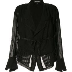 Ann Demeulemeester tie waist jacket - Black found on MODAPINS from FARFETCH.COM Australia for USD $2801.16