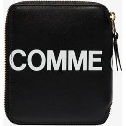 Comme Des Garçons Wallet Mens Black Logo Zip-up Wallet found on Bargain Bro UK from Browns Fashion