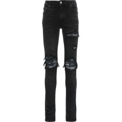 Amiri MX1 distressed bandana detail slim fit jeans - Black found on MODAPINS from FARFETCH.COM Australia for USD $1284.54