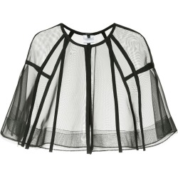 Alex Perry Darby crop cape - Black found on MODAPINS from FarFetch.com- UK for USD $2028.40