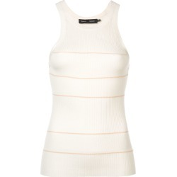 Proenza Schouler Silk Cashmere Stripe Tank - White found on Bargain Bro India from FarFetch.com - US for $390.00
