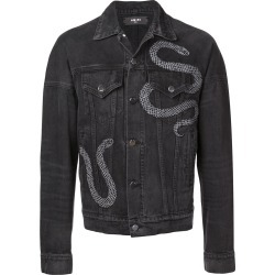 Amiri embroidered snake denim jacket - Black found on MODAPINS from FarFetch.com- UK for USD $1617.69