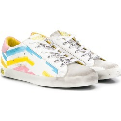 Golden Goose Kids TEEN Superstar striped sneakers - White found on Bargain Bro UK from FarFetch.com- UK