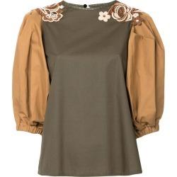 Antonio Marras floral appliqué colour block blouse - Green found on MODAPINS from FarFetch.com - US for USD $1076.00