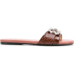 Anna Baiguera Cocco slides - Brown found on MODAPINS from FARFETCH.COM Australia for USD $183.77