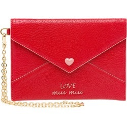 Miu Miu Love Logo envelope pouch - Red found on Bargain Bro Philippines from FarFetch.com - US for $380.00