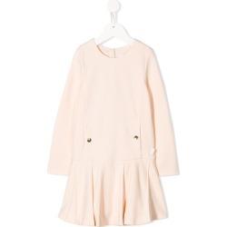 Chloé Kids pleated hem dress - Neutrals found on Bargain Bro UK from FarFetch.com- UK