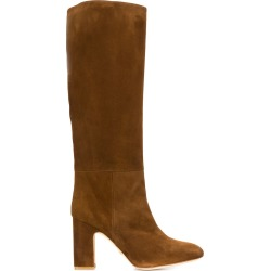 Stuart Weitzman heeled Talina boots - Brown found on Bargain Bro UK from FarFetch.com- UK