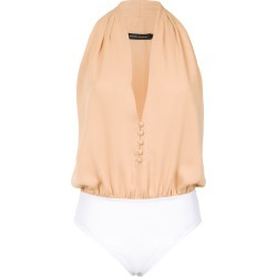 Andrea Marques deep neck bodysuit - Nude found on MODAPINS from FARFETCH.COM Australia for USD $145.89