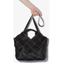 Loewe Womens Black Woven Leather Basket Tote Bag found on Bargain Bro UK from Browns Fashion
