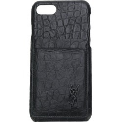 Saint Laurent embossed logo Iphone 8 cover - Black