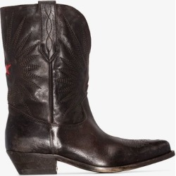 Golden Goose brown wish star leather cowboy boots found on Bargain Bro UK from Browns Fashion