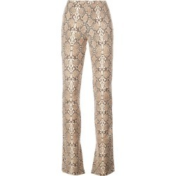 Anine Bing python print cigarette trousers - Brown found on MODAPINS from FarFetch.com- UK for USD $401.65