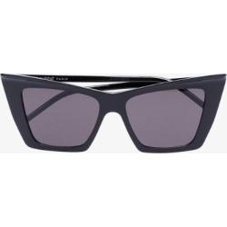Saint Laurent Eyewear Womens Black Sharp Cat Eye Sunglasses found on Bargain Bro UK from Browns Fashion