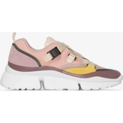 Chloé Womens Pink Multicoloured Sonnie Low Top Sneakers found on Bargain Bro UK from Browns Fashion