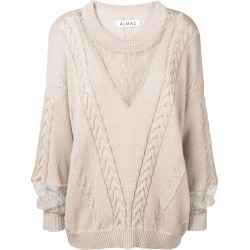 Almaz cable knit jumper - Neutrals found on MODAPINS from FarFetch.com- UK for USD $621.65