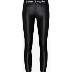 Palm Angels Womens Black Logo Sports Leggings found on Bargain Bro UK from Browns Fashion
