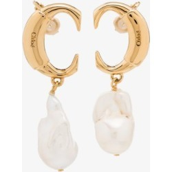 Chloé Womens Gold Tone Darcey Baroque Pearl Earrings found on Bargain Bro UK from Browns Fashion