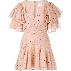Acler ruffled spot print mini dress - Pink found on MODAPINS from FarFetch.com- UK for USD $1078.93