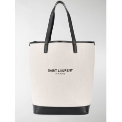 Saint Laurent white and black Teddy canvas bag found on Bargain Bro UK from MODES GLOBAL