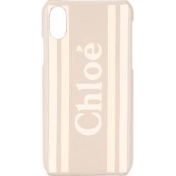 Chloé logo iPhone X case - Neutrals