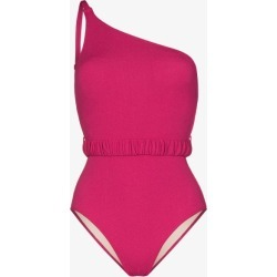 Peony Womens Pink One Shoulder Belted Swimsuit found on Bargain Bro UK from Browns Fashion