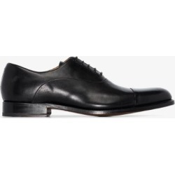 Grenson Mens Black Bert Leather Oxford Shoes found on MODAPINS from Browns Fashion for USD $345.70