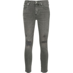 Agolde Sophie slash knee cropped jeans - Grey found on MODAPINS from FarFetch.com - US for USD $224.00