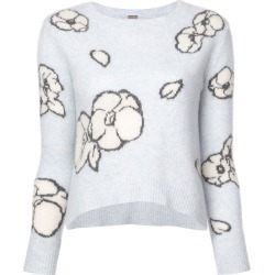 Adam Lippes floral-intarsia sweater - White found on MODAPINS from FARFETCH.COM Australia for USD $1375.94