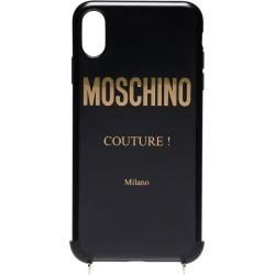 Moschino chain strap iPhone X case - Black