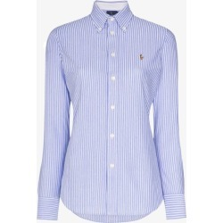 Polo Ralph Lauren Womens Blue Oxford Stripe Cotton Shirt found on Bargain Bro UK from Browns Fashion