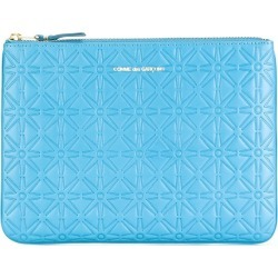 Comme Des Garçons Wallet embossed zip wallet - Blue found on MODAPINS from FarFetch.com - US for USD $141.00