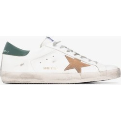 Golden Goose Mens White Golden G Superstar Snkr Wht Blu found on Bargain Bro UK from Browns Fashion