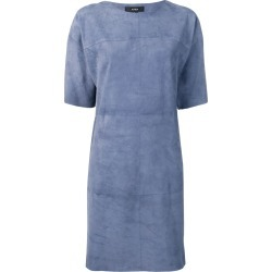 Arma short sleeve shift dress - Blue found on MODAPINS from FARFETCH.COM Australia for USD $464.44