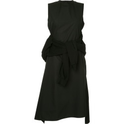Aganovich flared sweater detail layered dress - Black found on MODAPINS from FarFetch.com- UK for USD $1134.20