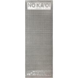 No Ka' Oi silver tone gummed yoga mat