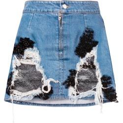 Almaz denim and lace mini skirt - Blue found on MODAPINS from FarFetch.com- UK for USD $625.57