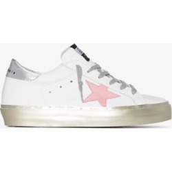 Golden Goose Womens White Hi-star Metallic Leather Sneakers found on Bargain Bro UK from Browns Fashion
