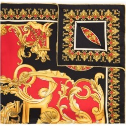 Versace Womens Black, Red And Yellow Baroque Print Scarf found on Bargain Bro UK from Browns Fashion