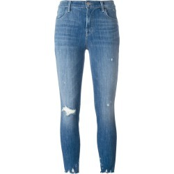 J Brand distressed cropped jeans - Blue found on MODAPINS from FARFETCH.COM Australia for USD $134.21