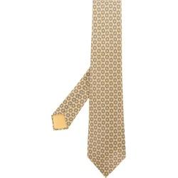 Hermès Vintage chain patterned tie - Yellow & Orange
